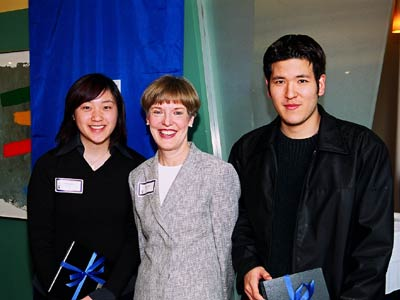 Chapman Service Awards winners with UBC President Martha Piper