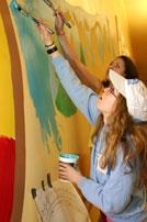 Grandview/?Uuqinak'uuh Elementary School: Hallway Mural Painting Project